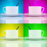 Beautiful cups of coffee Royalty Free Stock Image