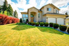 Beautiful curb appeal. Exterior design idea Stock Image