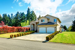 Beautiful curb appeal. Exterior design idea Royalty Free Stock Photos