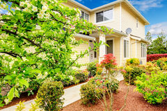 Beautiful curb appeal. Royalty Free Stock Image