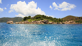 Beautiful Curieuse Island in Indian Ocean Royalty Free Stock Photography