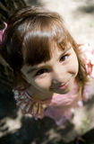 Beautiful curious girl  in a park Stock Images