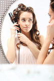 Beautiful curls, cosmetics styling Stock Photo
