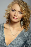 Beautiful curly blonde girl Royalty Free Stock Photos