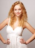 beautiful curly blonde girl Royalty Free Stock Image