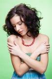 Beautiful curly girl Stock Photos