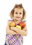 Beautiful curly girl with apple Royalty Free Stock Images