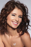 Beautiful curly-headed woman Royalty Free Stock Photography