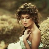 Beautiful curly women Stock Photos