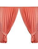 Beautiful curtain isolated on white background Royalty Free Stock Photography