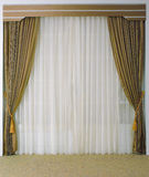 Beautiful curtain and tassels Stock Photography
