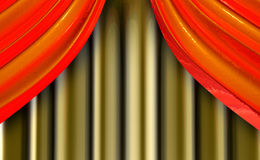 The beautiful curtains 2 Stock Image
