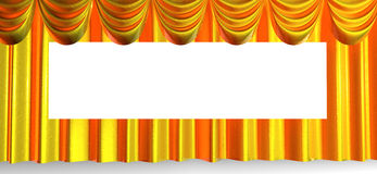 Beautiful curtains background Stock Images