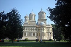 Beautiful Curtea de Arges Monastery Royalty Free Stock Images
