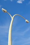 Beautiful curved light post Stock Image