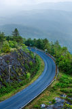 Beautiful curved road on the mountain Royalty Free Stock Images