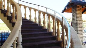 Beautiful curved staircase. stock images