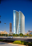 Beautiful curvilinear Architecture of Abu Dhabi Royalty Free Stock Photo