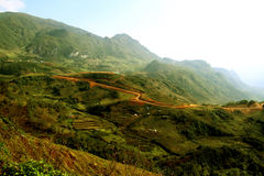 Beautiful Curvy roads, Sapa,Vietnam Stock Images