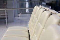 Beautiful cushion skin seat. Beautiful inside airport cushion skin seat Royalty Free Stock Photo