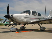 Beautiful custom Cirrus SR-22 Turbo aircraft. Royalty Free Stock Photos