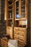 Beautiful custom home bookcase Royalty Free Stock Photos