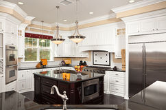 Beautiful Custom Kitchen Interior Stock Photos