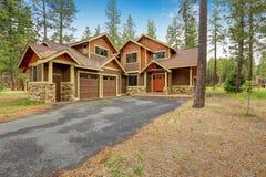 Beautiful custom made home exterior Stock Image