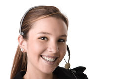 Beautiful customer assistant stock photography