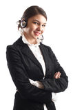 Beautiful Customer Representative Royalty Free Stock Photography