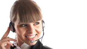 Beautiful Customer Representative Royalty Free Stock Image