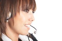 Beautiful Customer Representative Stock Image