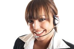 Beautiful Customer Representative stock images