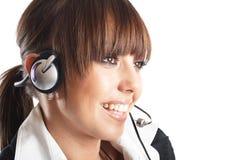 Beautiful Customer Representative Stock Photography