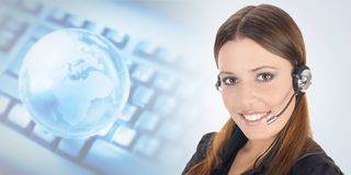 Beautiful customer representative Stock Image