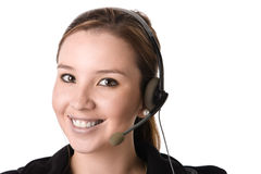 Beautiful customer service Royalty Free Stock Images