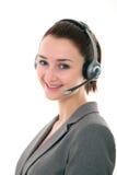 BEAUTIFUL CUSTOMER SERVICE GIRL Stock Image