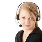 Beautiful customer service operator Royalty Free Stock Image