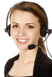 Beautiful customer service operator Stock Photos