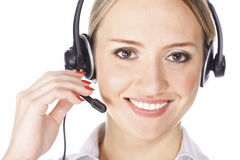 Beautiful customer service operator Royalty Free Stock Photography