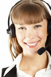 Beautiful customer service operator Royalty Free Stock Images