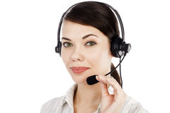 Beautiful customer service operator Stock Photos