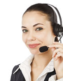 Beautiful customer service operator Stock Images