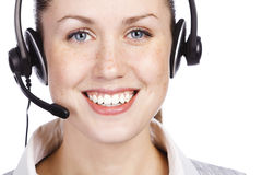 Beautiful customer service operator Stock Image