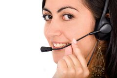 Beautiful customer service rep Royalty Free Stock Photography