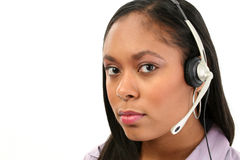 Beautiful Customer Service Rep Royalty Free Stock Photo