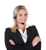 Beautiful Customer Service Representative With Arms Crossed Royalty Free Stock Photo