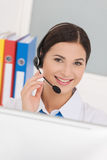 Beautiful customer service representative. Royalty Free Stock Photography