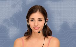 Beautiful customer service woman Royalty Free Stock Image