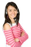 Beautiful customer services girl Stock Images